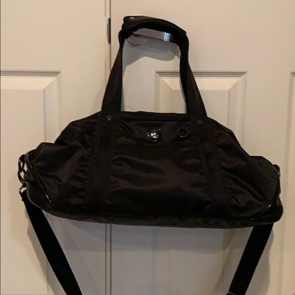 Lululemon black Athletic workout gym bag